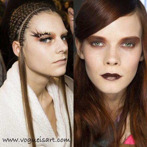 2014-2015 Sonbahar/Kış Makyaj Trendleri,2014-2015 Sonbahar/Kış Makyaj modası,2014-2015 F/W Makeup fashion,2014-2015 F/W Makeup trends