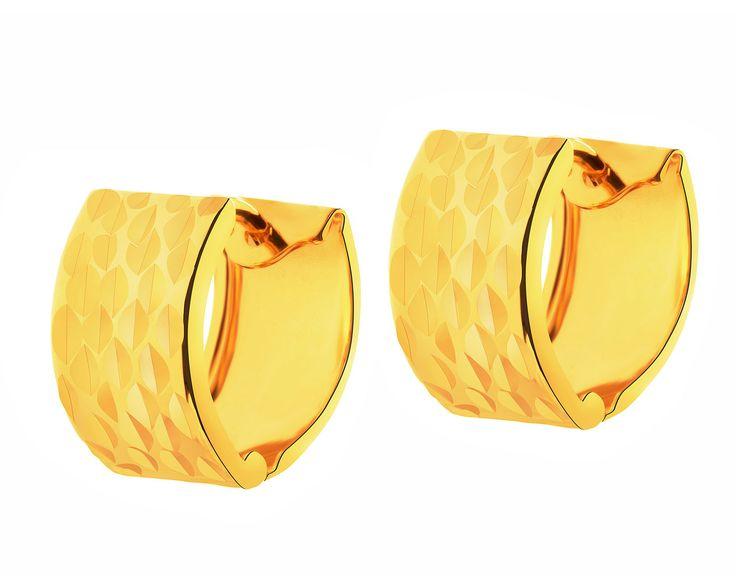 Złote kolczyki - wzór AP126-2974 / Apart