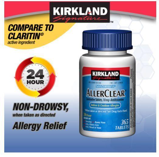 Kirkland Signature Non-Drowsy ALLERCLEAR Loratadine 10mg
