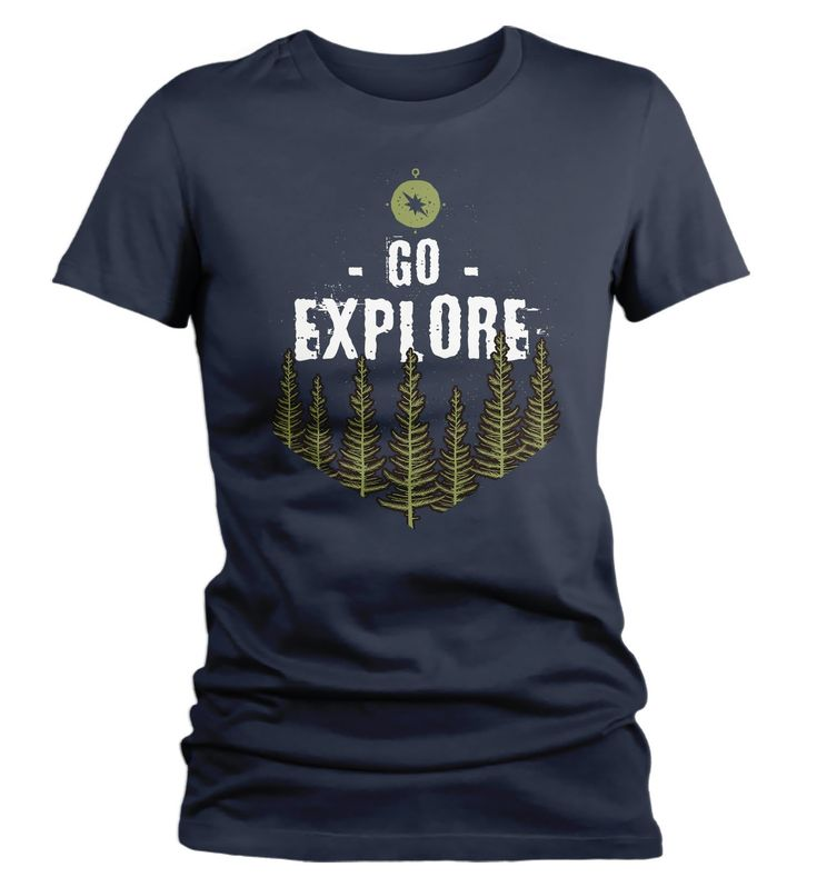 Women's Explore T Shirt Wanderlust Shirts Forest Nature Shirt Hipster Shirts Wanderlust Shirt Adventure Camping Tee – Products