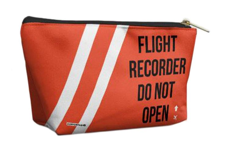 Airportag Flight Recorder Funny Airport Travel Accessory Cosmetic Bag – moodswingsonthenet