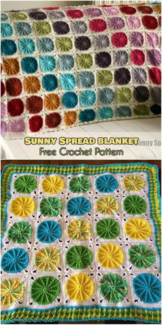 Sunny Spread Blanket [Free Crochet Pattern and Video Tutorial ...