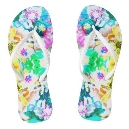 Floral Flip Flops - photography gifts diy custom unique special