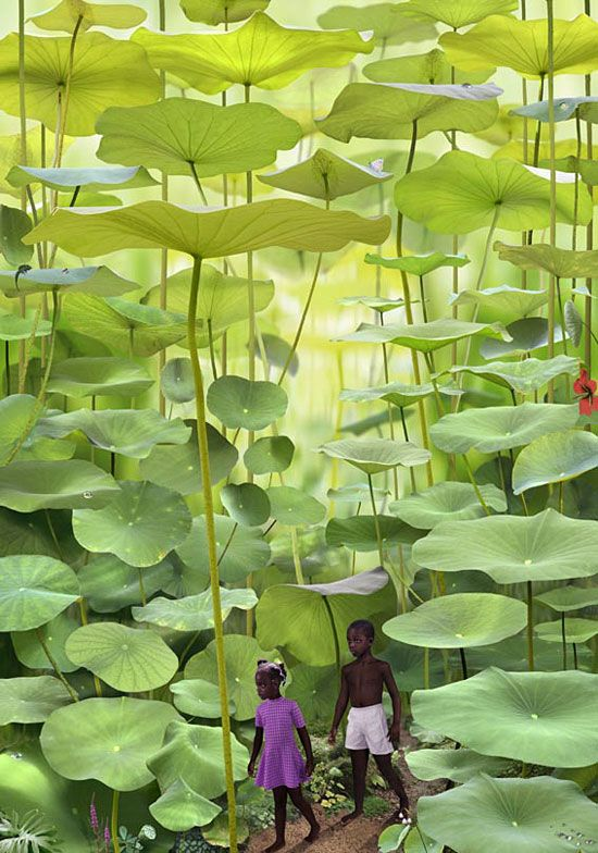 Boy & Girl, World Series, 2008.  Cibachrome 67 x 95 inches by Ruud Van Empel