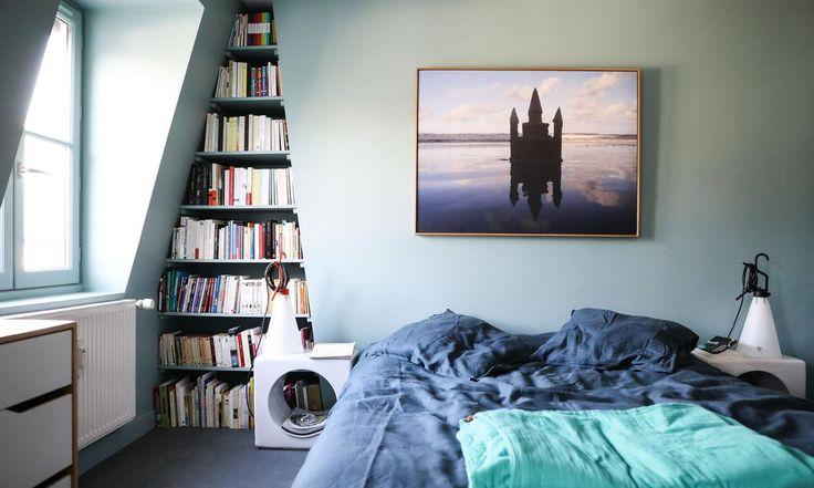 Chambre Parentale Bleue Déco Appartement Gabriella Toscan du Plantier