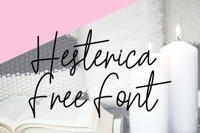 DLOLLEYS HELP: Hesterica Free Font
