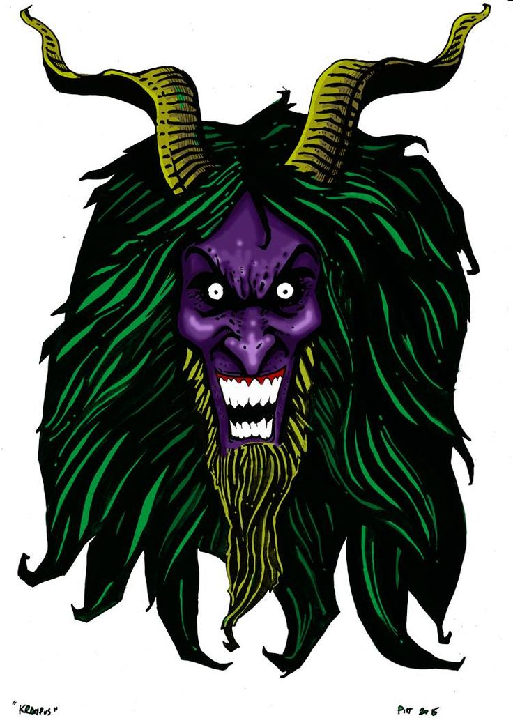 Pietro Pitt Rotelli - Krampus illustration - Masonry / Massoneria Creativa  - www.massoneriacreativa.com