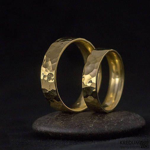 Zlatý snubní prsten - Golden Draill