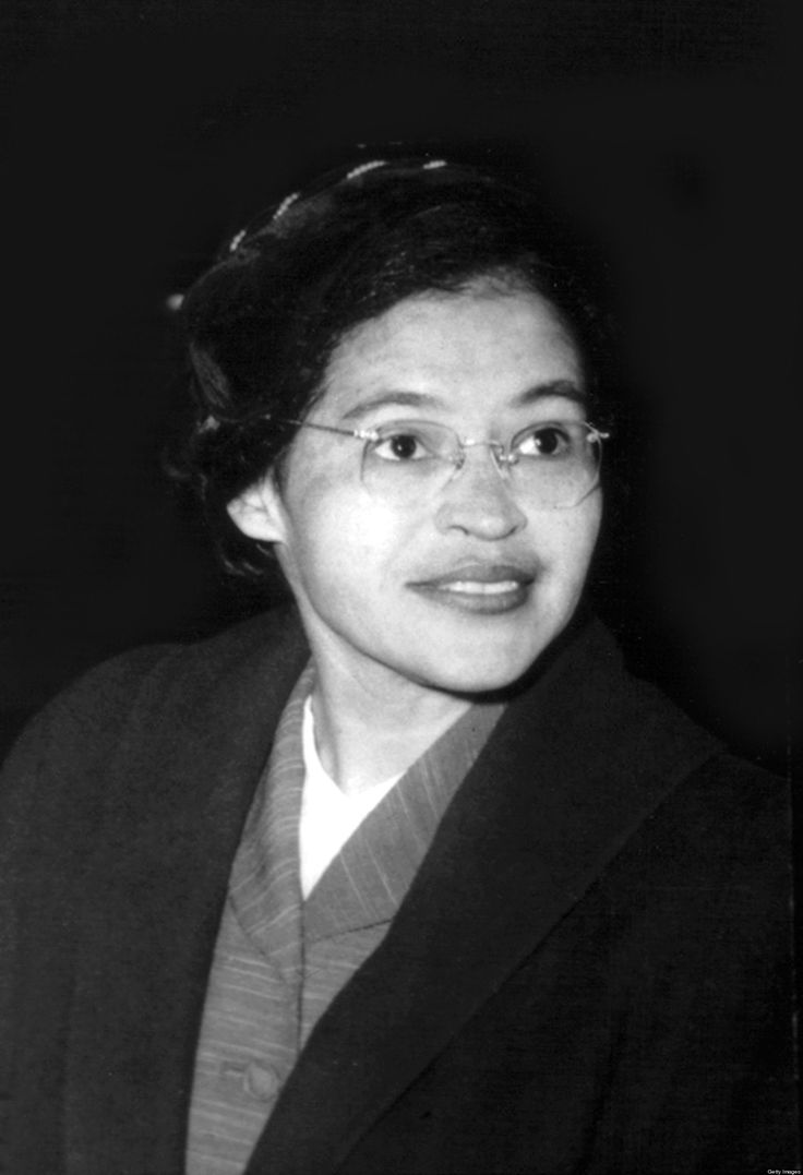 Especially when discussing Civil Rights, Rosa Parks is most famous for her refusal to give up her seat on a public bus to a white passenger in 1955. This event caused the Montgomery Bus Boycott, a boycott of public buses by many blacks in order to protest segregated buses.