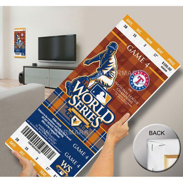 Texas Rangers 2010 World Series Mega Ticket - $79.99