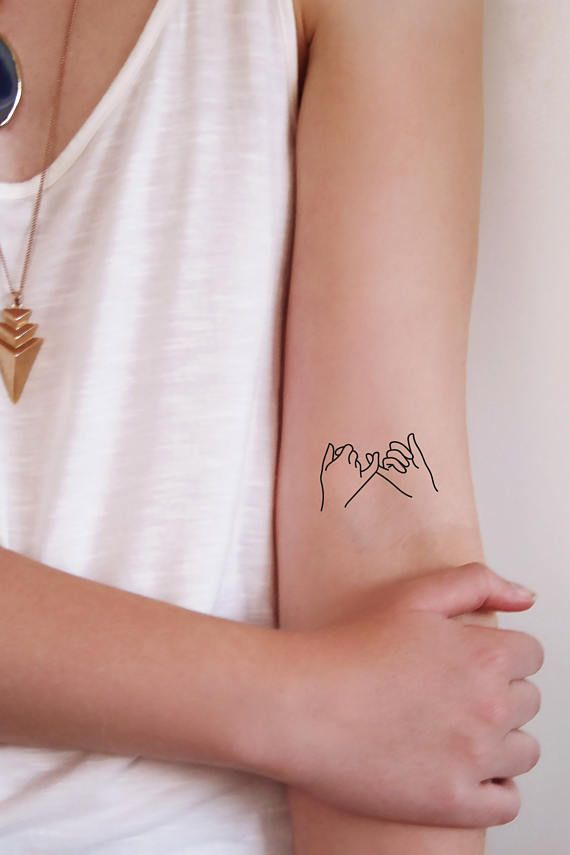 Pinky swear temporary tattoo / friendship tattoo / boho tattoo / boho jewelry / hand tattoo / bohemian gift / festival tattoo