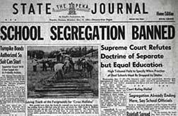 news headlines of the 1950s   The Topeka State Journal reported the historic May 17, 1954, decision ...