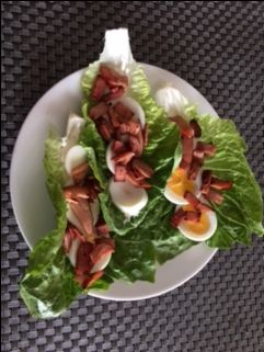 BELT (Bacon Egg Lettuce Tomato) - The Blood Sugar Diet by Michael Mosley  What's not to love about this BLT? Perfect lunch or dinner for the upcoming Plots, Plans and Parenthood health kick.