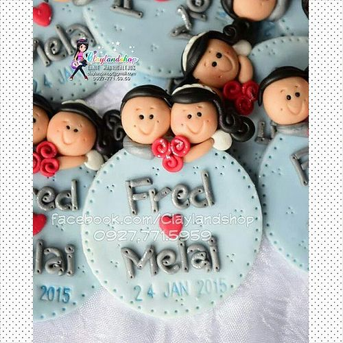 Clay ref magnet Wedding ref magnet souvenir Unique Wedding… | Flickr
