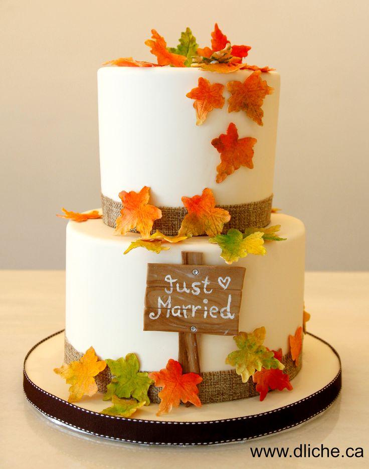 Un gâteau de mariage au couleurs d'autonme! A wedding cake with fall colours!