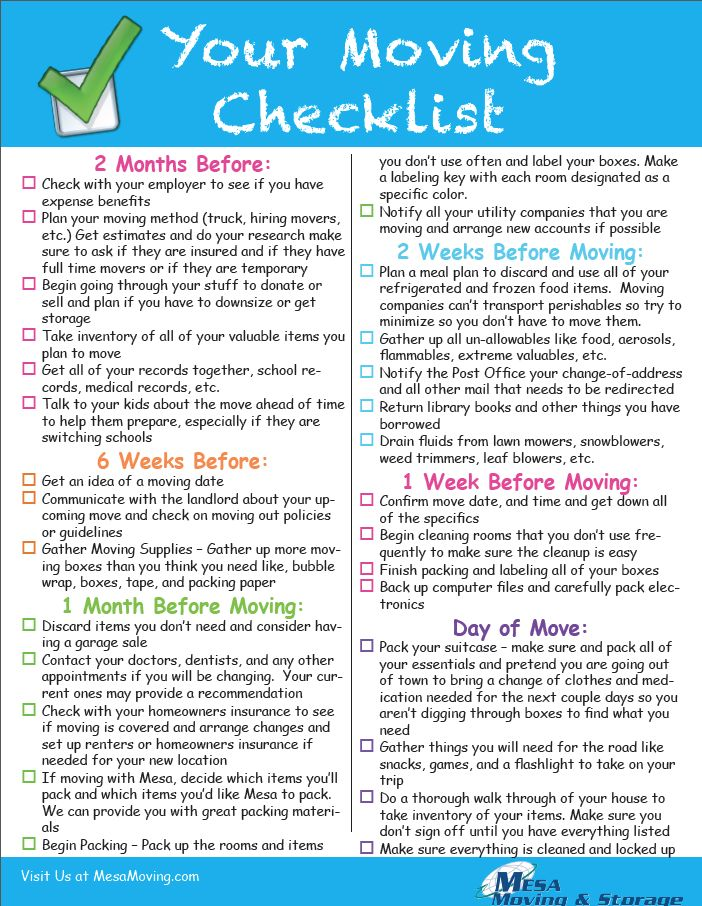 Moving To Another State Checklist Vertola