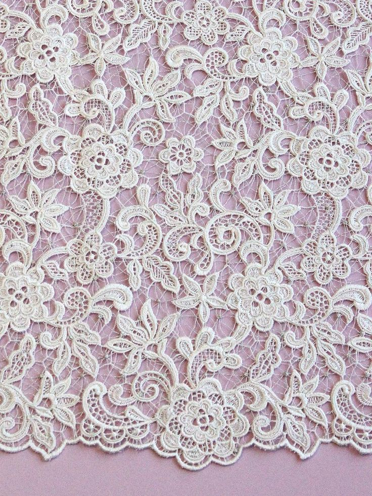 ... known as filet or Venetian lace, guipure is almost certainly a decorative form of lace that was derived from the netmaking skills of early fishing communities. Description from bridalfabrics.co.uk. I searched for this on bing.com/images
