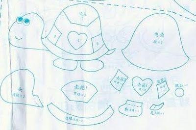 !!!!♥ Feltro-Aholic ♥ Moldes e pap em feltro e feltro estampado!: Moldes Japoneses!!!