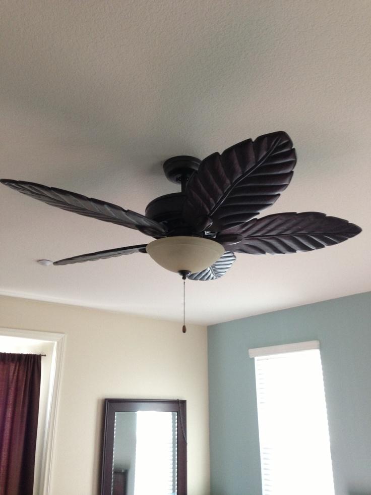Emerson Ceiling Fan Added To Our Master Bedroom Custom Dark Wood Leaf Blades