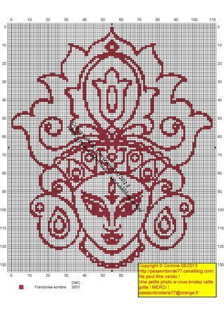 Pays - country - inde - point de croix - cross stitch - Blog : http://broderiemimie44.canalblog.com/