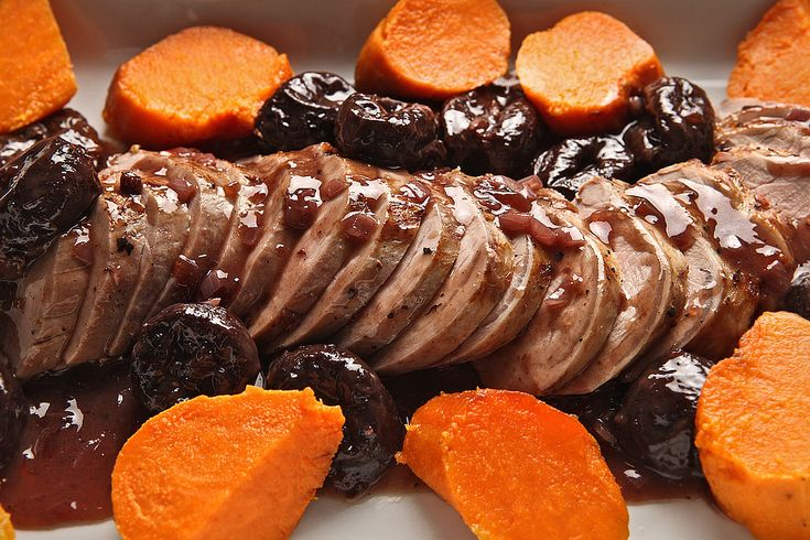 NYT Cooking: Pork Tenderloin With Shallots and Prunes