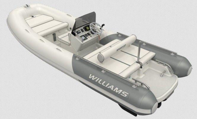New Williams Sportjet 520 yacht tender to be launched at London Boat Show 2015  The Sportjet 520 superyacht tender offers a brand new concept for the sport RIB, combining the safety and fun of a jet drive with the high performance of the industry-leading BRP Rotax® 4-TEC 150 engine. Speed and practicality are both key to this beautiful craft, which has been designed to thrill any keen water skier or wakeboarder.