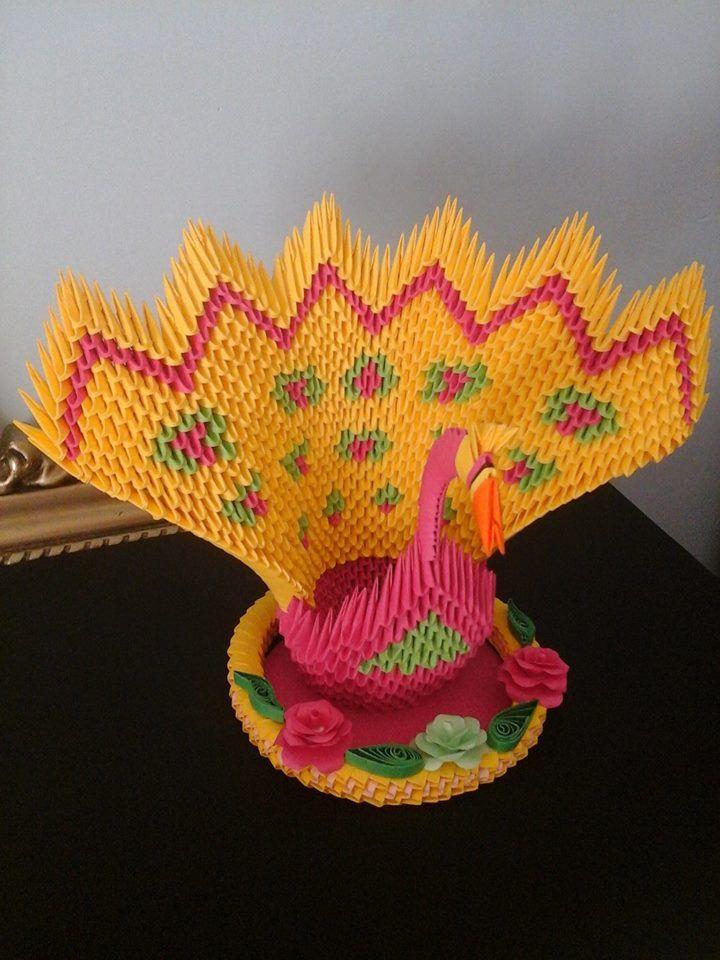 Pavone origami 3D