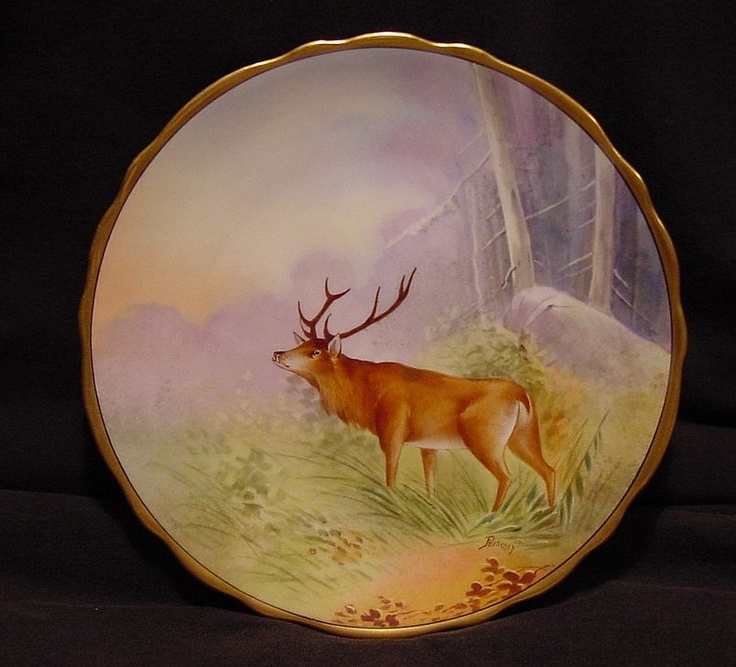 Beautiful Limoges Porcelain Cabinet Plate ~ Hand Painted