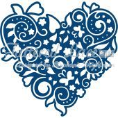 Tattered Lace Die Flourish Heart