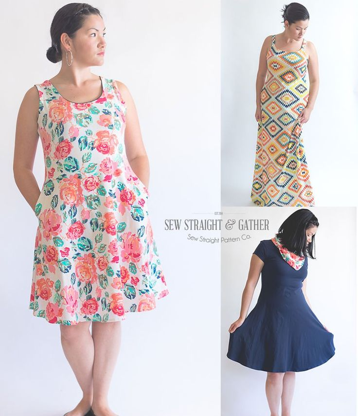 Sizes XS – 3XL Confident Beginner Sewing Level The Women's Uptown/Downtown Dress sewing pattern; is a versatile and stylish fit and flare dress/maxi. It looks good on just about anyon…