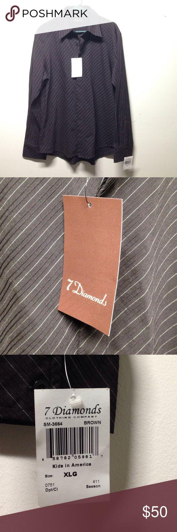 NWT size(XL) 7 Diamonds shirt NWT no defects 7 Diamonds Shirts Dress Shirts