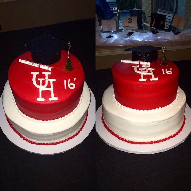 Cake I made for my sisters college graduation, University of Houston #uofh