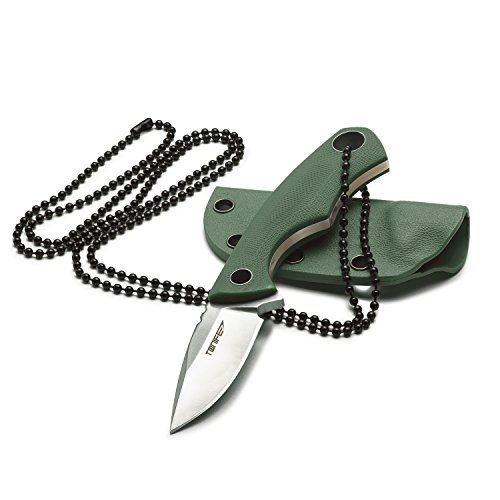 Tonife Fixed Blade Neck Knife Full Tang 4-5/8 Inch Overall with Kydex Sheath and Ball Chain   http://huntinggearsuperstore.com/product/tonife-fixed-blade-neck-knife-full-tang-4-58-inch-overall-with-kydex-sheath-and-ball-chain/
