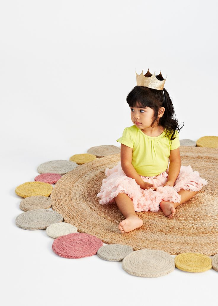 Flower weave rug from Armadillo&Co