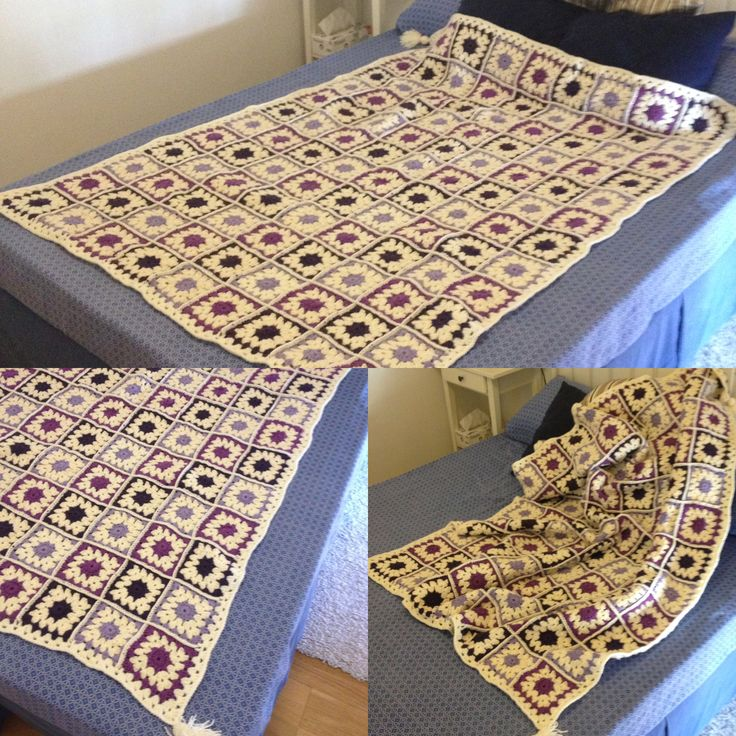 Manta crochet granny square lucia