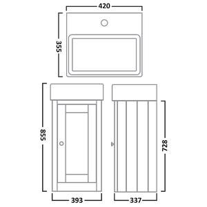 Image for Tavistock Lansdown 400mm Cloakroom Vanity Unit & Basin - Pebble Grey