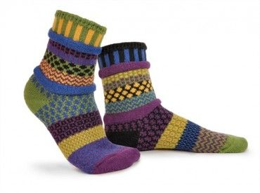 October Morning Solmate Mismatched Knitted Socks from www.indigobluetrading.com