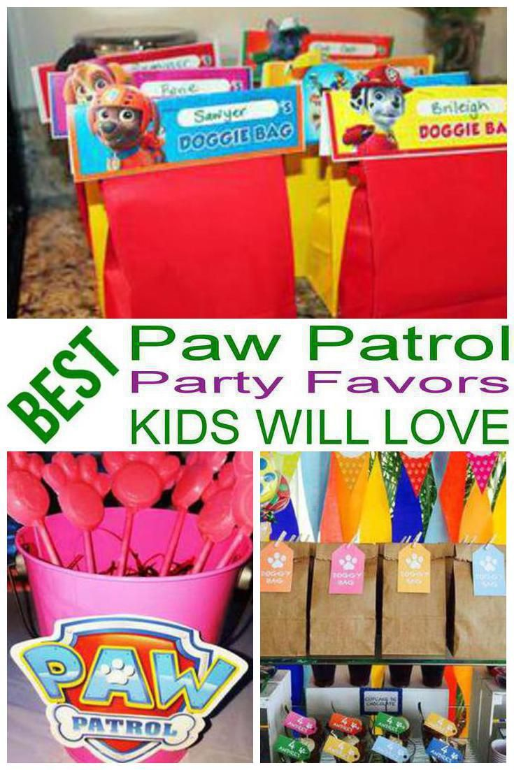 birthday party favors paw patrol party favors for a kids bday the best paw patrol favor ideas all children will love fun easy ideas for a boy or girl