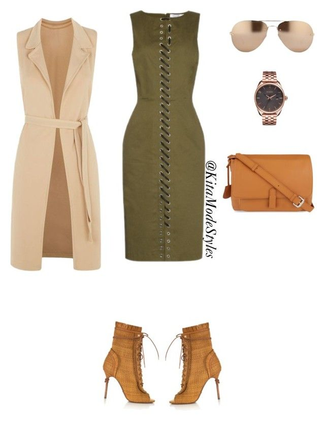 Laced up by kitamode on Polyvore featuring Altuzarra, Influence, Sergio Rossi, Kipling, Nixon and Linda Farrow