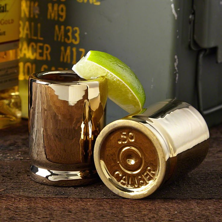 For the man who never gets tired of taking a good shot, on or off the range, our 50 Caliber shot glasses are just what he needs for the bar. This fun set of 2 shooters, are coated in a glossy gold ...
