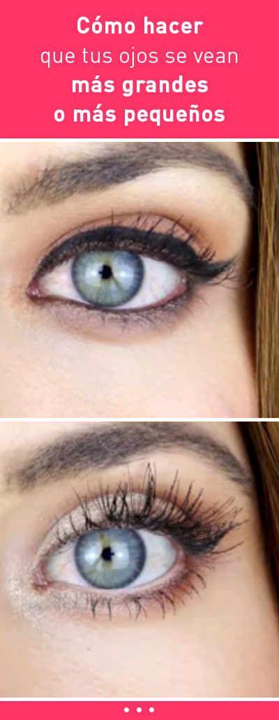 Cómo hacer que tus ojos se vean más grandes o más pequeños. Trucos de maquillaje