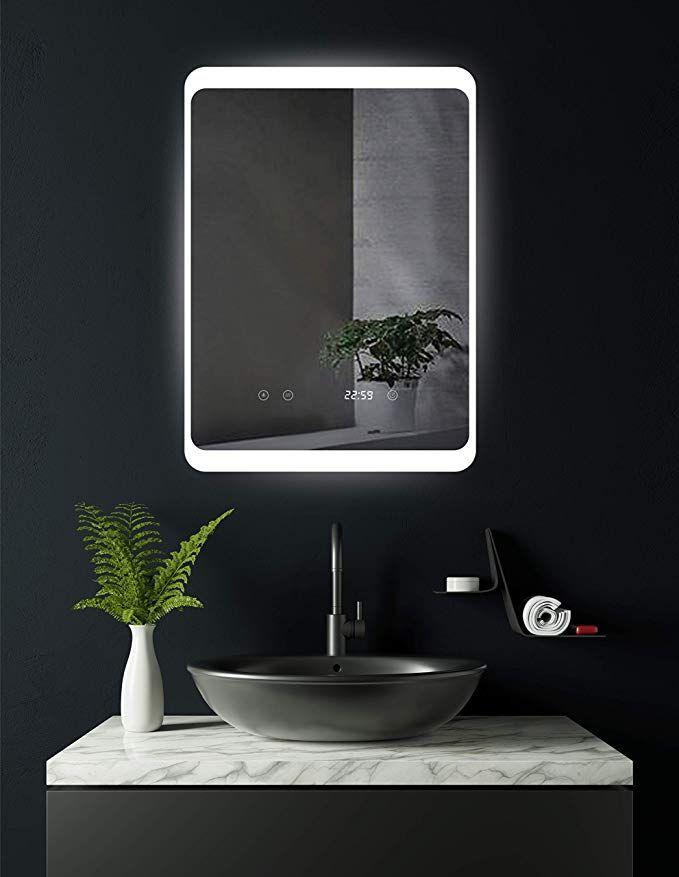 Hoko Led Bad Spiegel Beleuchtet Mit Digital Uhr Und Antibeschlag Spiegelheizung Und Digitaler Uhr Koln 50x70cm Licht Seitl In 2021 Spiegelheizung Beleuchten Spiegel