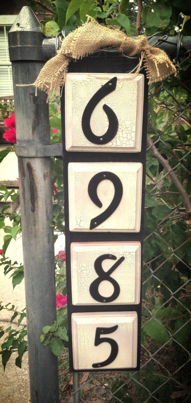 25 Creative DIY House Numbers Ideas