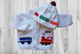 Train Baby Sweater