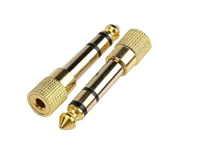 Devinal Professional 6 35mm 1 4 Inch Plug To 3 5mm 1 8 Inch Jack Gold Plated Trs Aux Stereo Audio Headphone Audio Headphones Headphone Professional Headphones