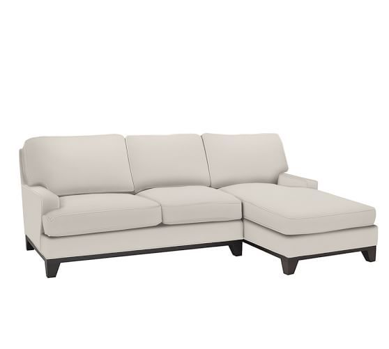Seabury Upholstered Sofa with Chaise Sectional | Pottery Barn