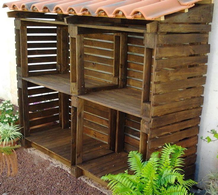THE PALLET FACTORY : Leñera para el jardín