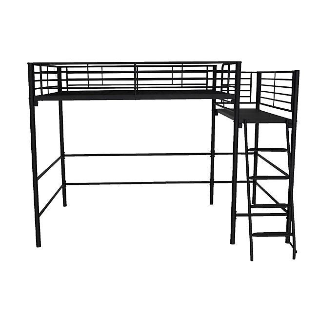 interesting cool alexy lit mezzanine avec plateforme xcm noir paillet with tente de lit alinea. Black Bedroom Furniture Sets. Home Design Ideas