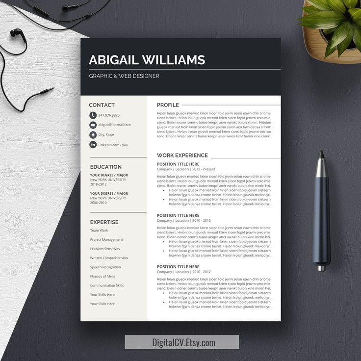 Teacher Resume Template u0026 Cover Letter Cv
