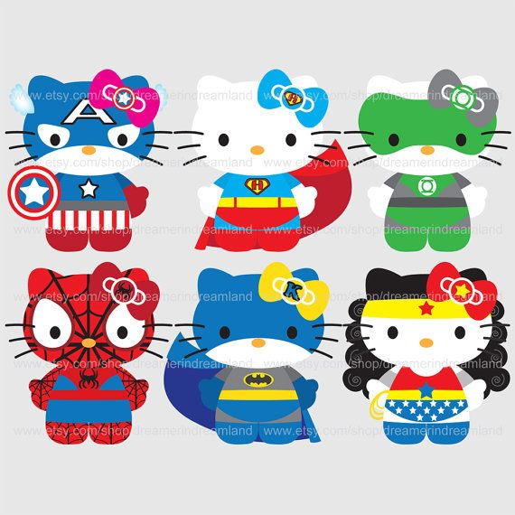 Hello kitty superheros~ :D
